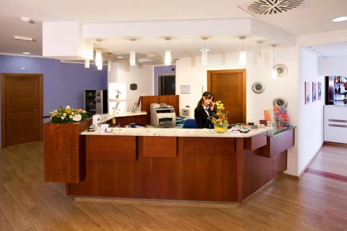 The lobby or reception area at Hotel Master