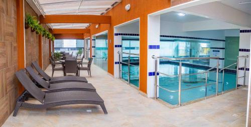 A piscina localizada em Hotel Vieiras ou nos arredores