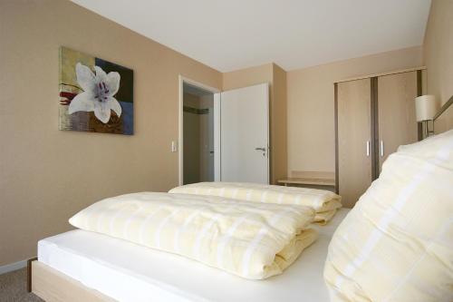 Cama o camas de una habitación en Apparthotel Birkenhof