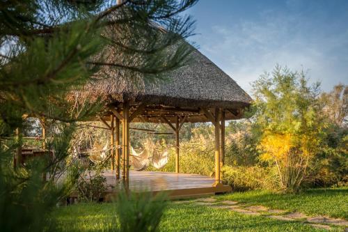 Piscina de la sau aproape de Green Village Resort