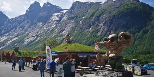 Guests staying at Trollstigen Camping and Gjestegård