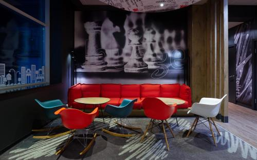 The lounge or bar area at Ibis Moscow Centre Bakhrushina
