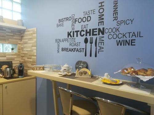 A kitchen or kitchenette at B&B L'Edera di Caterina