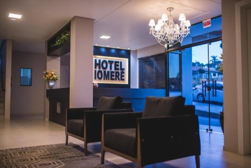 The lobby or reception area at Hotel Iomere