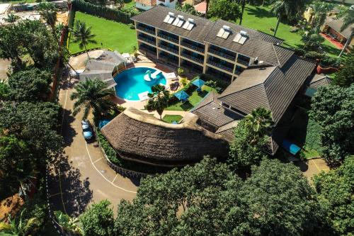 A bird's-eye view of Dolphin Suites