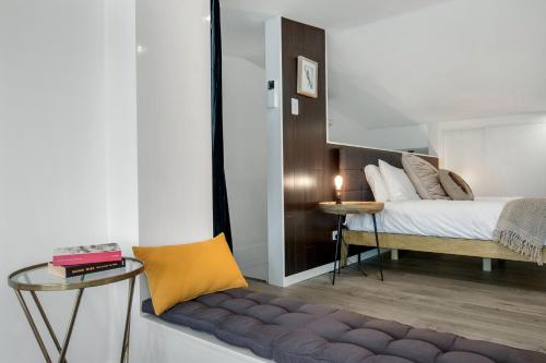 A bed or beds in a room at Block Eight Hunter Valley