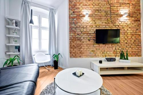 A seating area at Apartament Centrum HGa - Wierzbowa