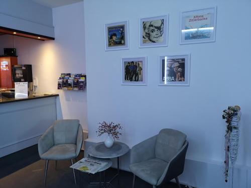 Ein Sitzbereich in der Unterkunft Hotel Zur Alten Druckerei
