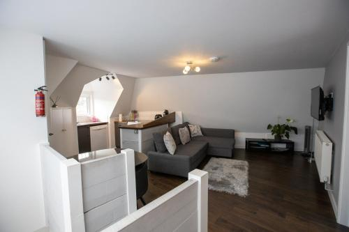 A seating area at Beautiful 1 bedroom Apartment