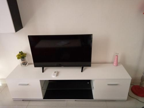 A television and/or entertainment center at RIVER APPARTS