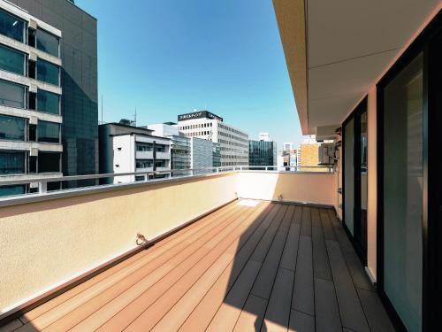 A balcony or terrace at Hotel Yururito Osaka