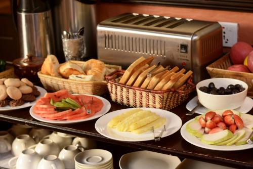 Breakfast options available to guests at Kasthamandap Boutique Hotel