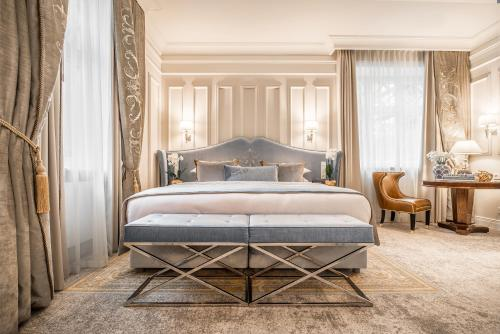 A bed or beds in a room at Bachleda Luxury Hotel Krakow MGallery By Sofitel