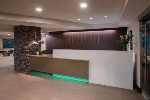 The lobby or reception area at The Delaney Hotel