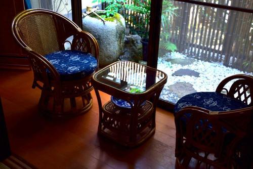 A seating area at Yamawa House