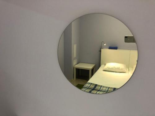 Кровать или кровати в номере MKS-Hostel