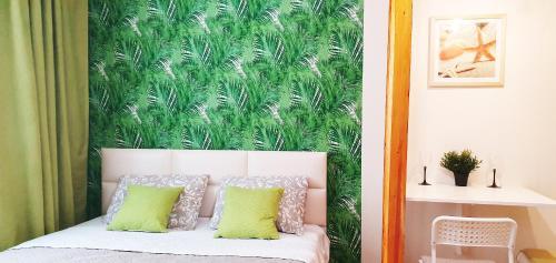 Кровать или кровати в номере Апартаменты на Трнавская 26