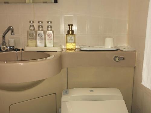 Kamar mandi di Hotel Ikeda