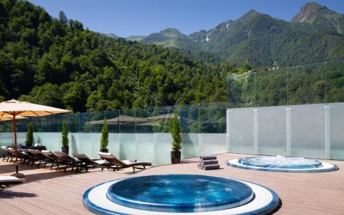 The swimming pool at or close to Radisson Rosa Khutor Hotel