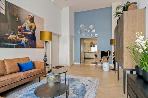 The lobby or reception area at The Clamsterdam Canal House Apartment - with patio in city centre