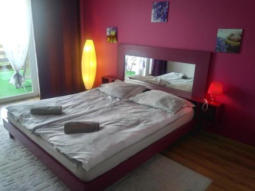 Łóżko lub łóżka w pokoju w obiekcie Tropikalna Odnowa