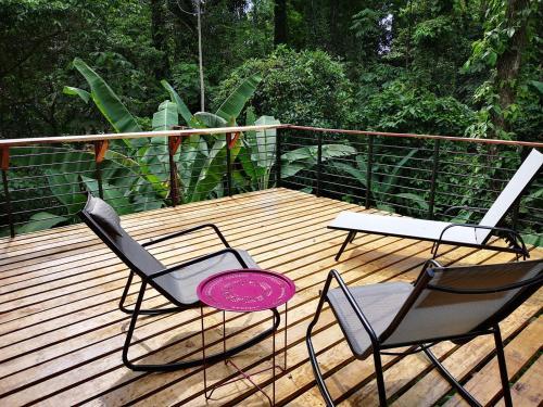 Ein Balkon oder eine Terrasse in der Unterkunft La Shamana Ecolodge
