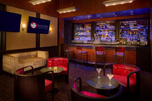 The lounge or bar area at Millennium Times Square New York