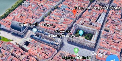 A bird's-eye view of D: Centre ville de Lyon