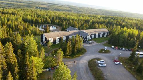 Ett flygfoto av Källan Hotell Spa Konferens