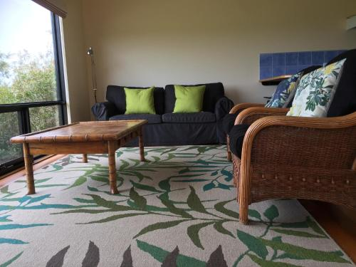 A seating area at Black Cockatoo Cottages