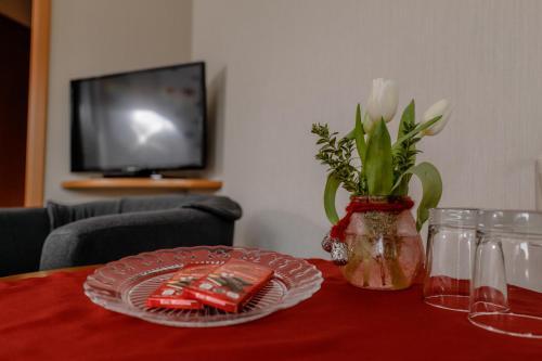 TV/Unterhaltungsangebot in der Unterkunft Pension Haus am Walde