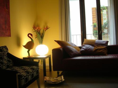 A seating area at Albergo Verdi