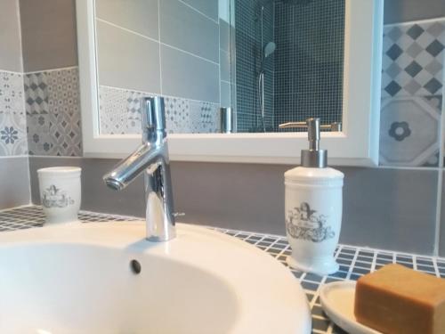 Salle de bains dans l'établissement Le Clos Sainte Foy