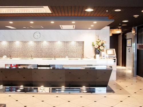 The lobby or reception area at E Hotel Osaka Umeda