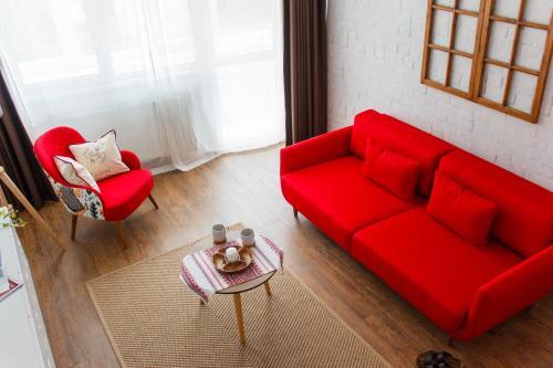 אזור ישיבה ב-Grand Accommodation Apartments