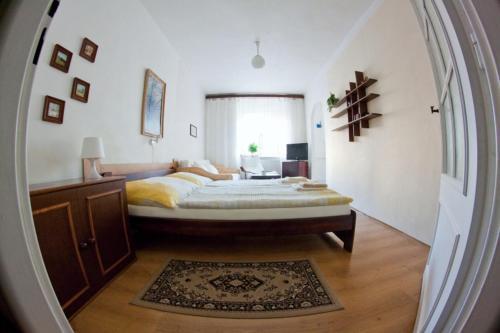 Postel nebo postele na pokoji v ubytování Privat No. 40