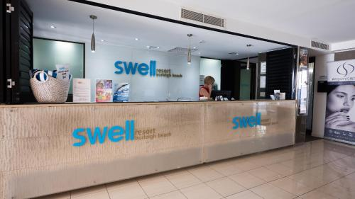 The lobby or reception area at Swell Resort Burleigh Beach