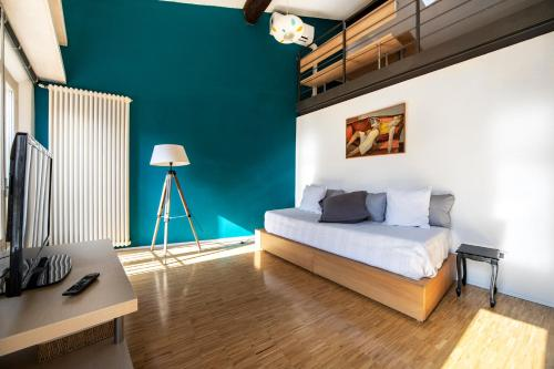 A seating area at D'Azeglio Halldis Apartments