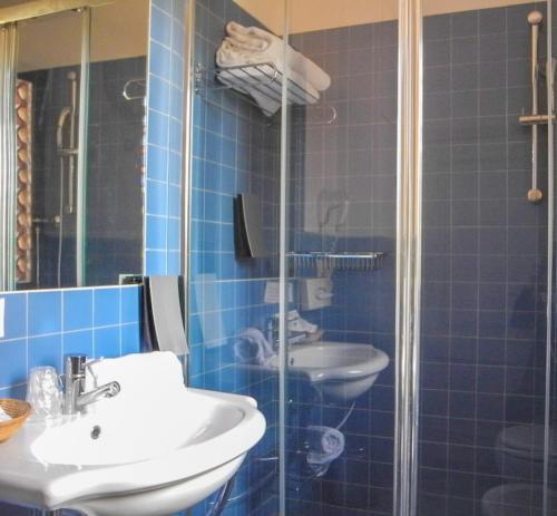 A bathroom at Hotel Le Renaie