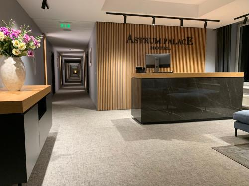The lobby or reception area at Astrum Palace