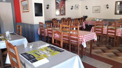 Restaurant ou autre lieu de restauration dans l'établissement Hotel gites des touristes