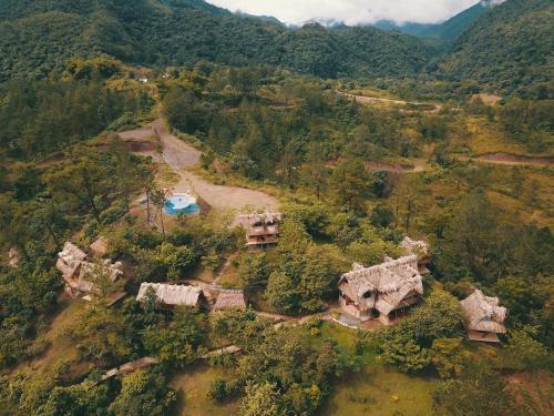 A bird's-eye view of Hostal Vista Verde Lanquin