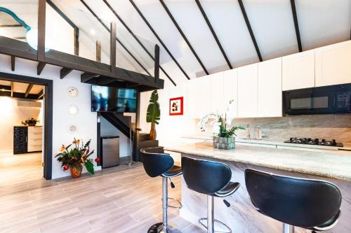 A kitchen or kitchenette at Saunders Beach Cottage