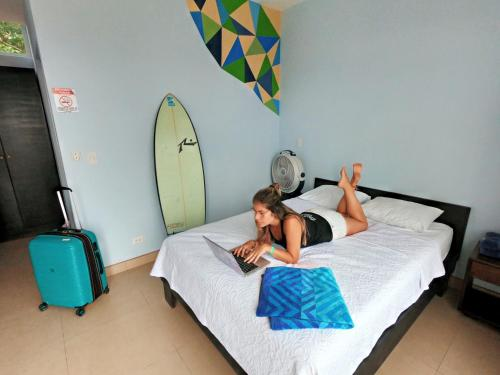 A family staying at Room2Board Hostel and Surf School