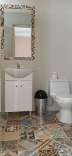 A bathroom at Los Andes Bed & Breakfast