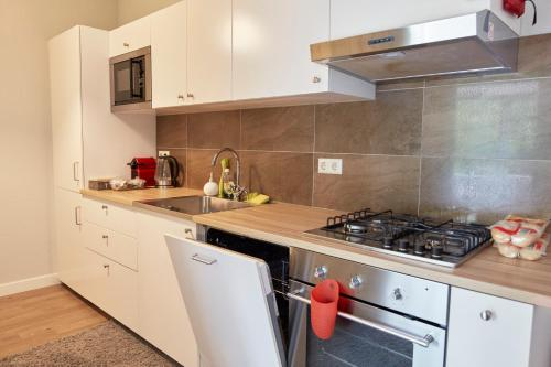 A kitchen or kitchenette at CityTreeHouse ApartHotel