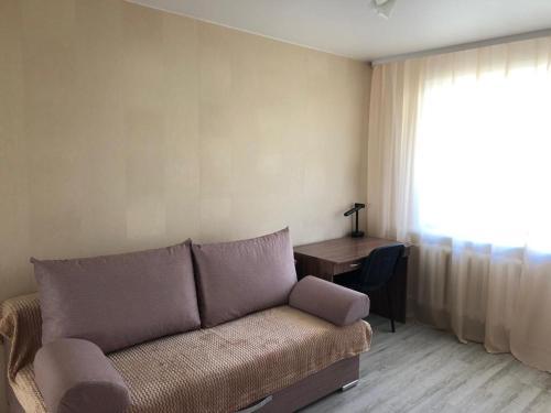 A seating area at Апартаменты на Иванова