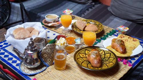 Breakfast options available to guests at Riad Naya