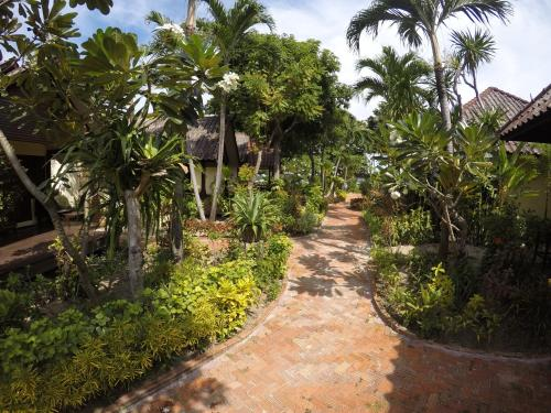 A garden outside OP Bungalow