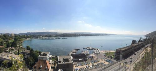 Blick auf Hotel Artus aus der Vogelperspektive